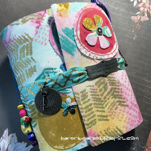 Book Club Sizzix Collection Chapter Two: Eileen Hulll Fabric Wrap Journal by Karen Bearse