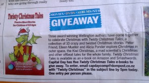 Twisty Christmas Tales DomPost CapDay Giveaway