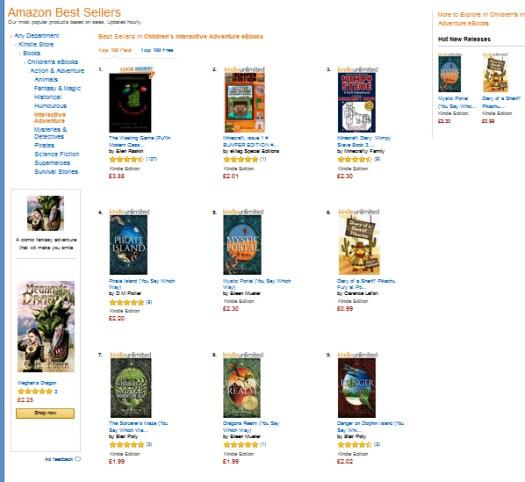 amazon co uk best sellers list