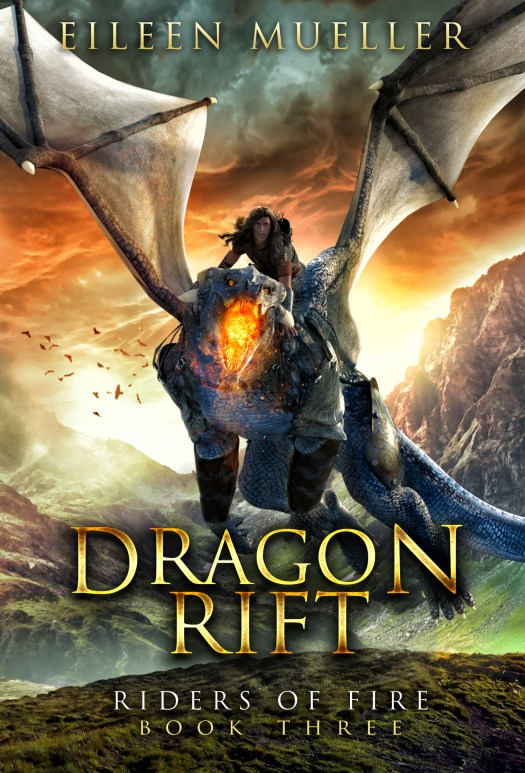 Dragon Rift is the cover for book 3 in Eileen Mueller's Riders of Fire series, available on Amazon