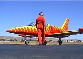 A marketing video for a stunt pilot
