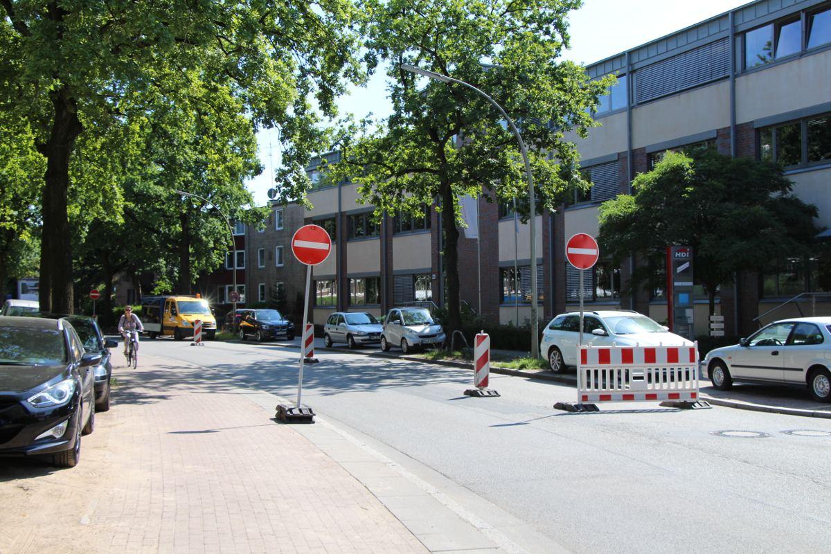 Stresemannallee ist bis Herbst Einbahnstraße