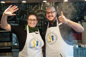 """Carina und Anders von """"Koch dich schwedisch"""". Foto: Angela Oswald"""