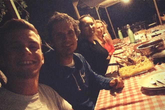 Selfie Abendessen