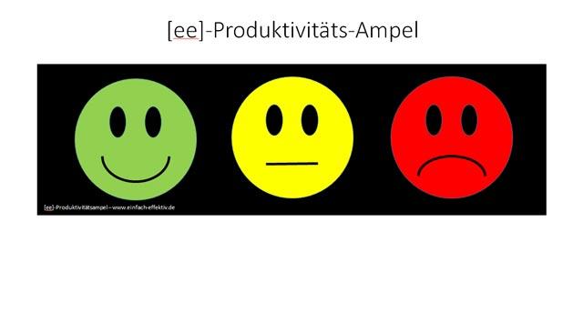 Zustandsmanagement mit der Produktivitäts-Ampel