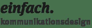 Logo einfach. Kommunikationsdesign