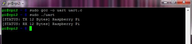 Screenshot PuTTy UART
