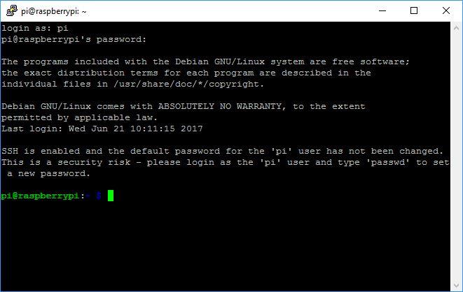 Raspberry Pi SSH Login
