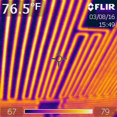 Thermal Imaging, radiant heat from ceiling system