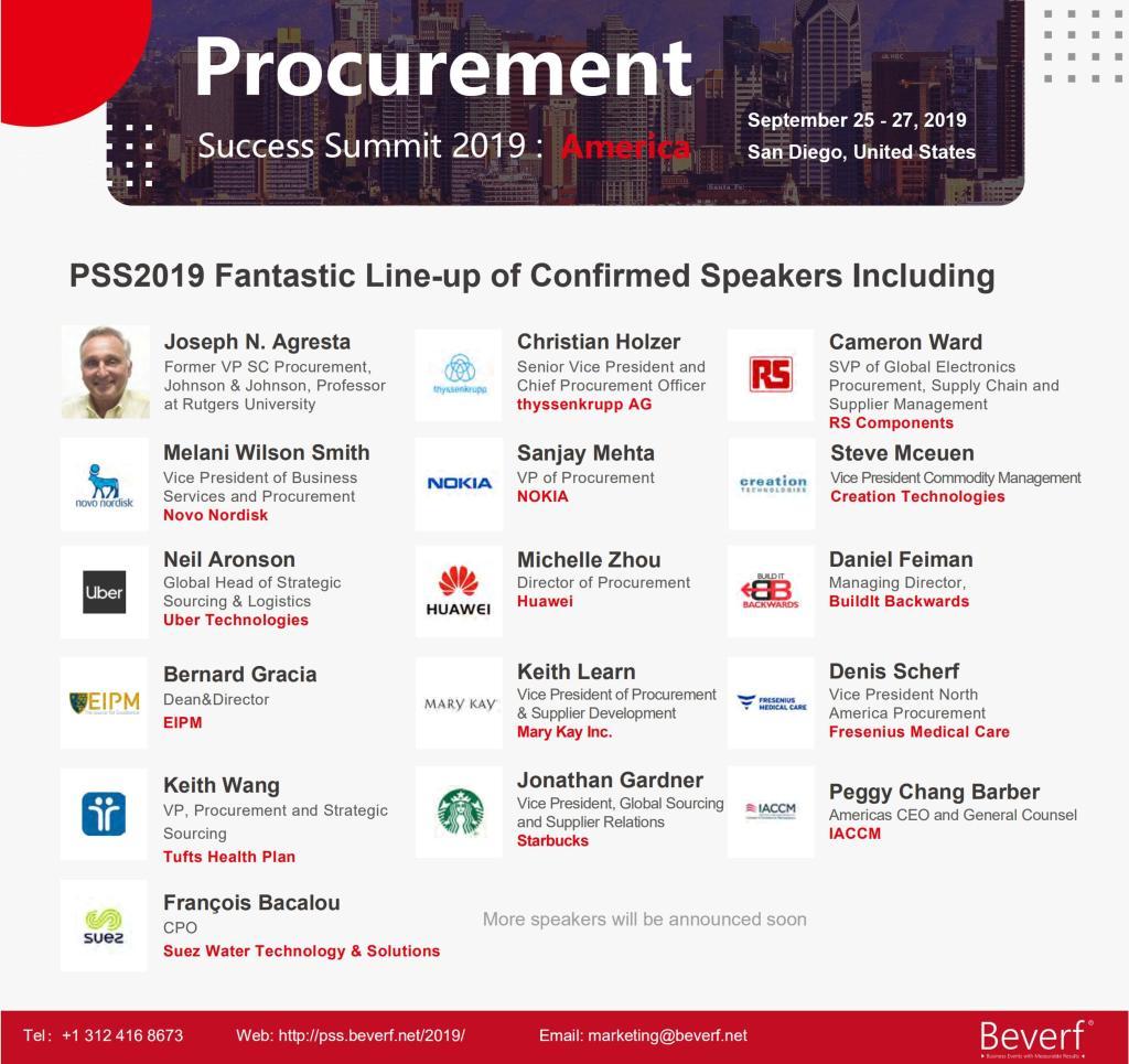 Procurement Success Summit 2019 - America - speakers