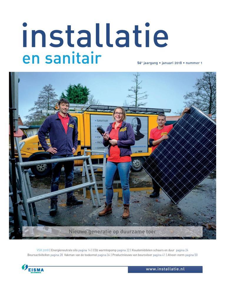 Afbeeldingsresultaat voor installatie en sanitair magazine nederland cover