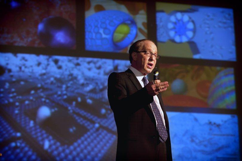 Ray Kurzweil em palestra na Universidade de Rhode Island's, nos EUA. (Foto: Mike Salerno/URI)