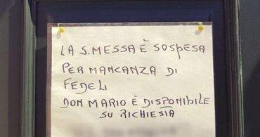 "Igreja na Itália celebra missas apenas ""por encomenda"""