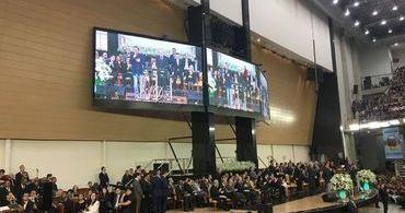 """Doria pede """"oração pelo Brasil"""" em culto da Assembleia de Deus"""