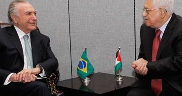 Temer convida o presidente da Palestina para vir ao Brasil