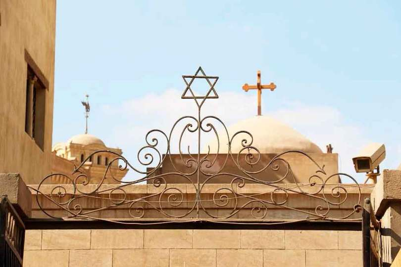 Parte da sinagoga Ben Ezra, no VelhoCairo, Egito. Acredita-se que neste local Moisés foi criado. (Foto: Guiame/Marcos Paulo Corrêa)
