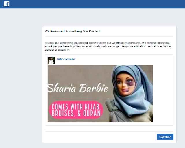 Facebook censura Barbie islâmica