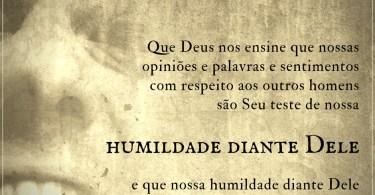Humildade diante Dele