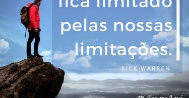 Deus jamais fica limitado pelas nossas limitações