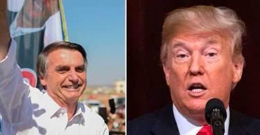 """Trump parabeniza Bolsonaro por vitória nas eleições: """"Seremos grandes parceiros"""""""