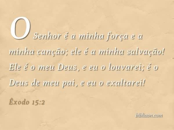 Devocional - Êxodo 15:2