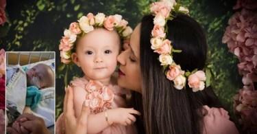"""Bebê é curada de câncer e mãe agradece a Deus: """"Ele operou este milagre"""""""
