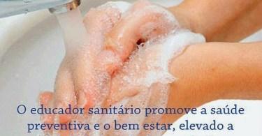 O Educador Sanitário promove a saúde preventiva e o bem-estar!