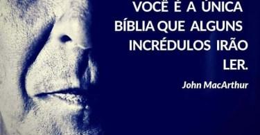 Você é a única Bíblia que alguns incrédulos vão ler.
