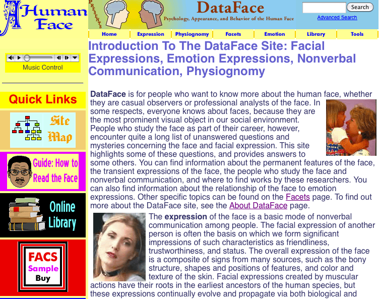 Website of the Month: Data-Face