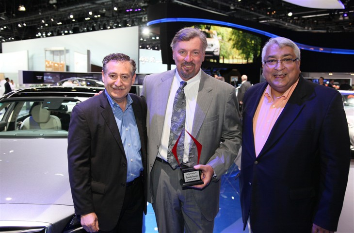 """The all-new 2015 Hyundai Genesis was named today a Top Ten Car of 2015 by the jurors of the Hispanic Motor Press Awards. Honored as the """"Best Luxury Car"""" at the annual Los Angeles Auto Show."""