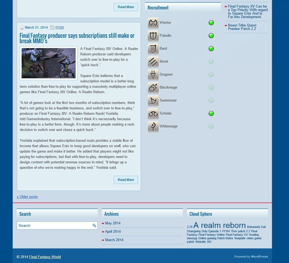 Screenshot of template2