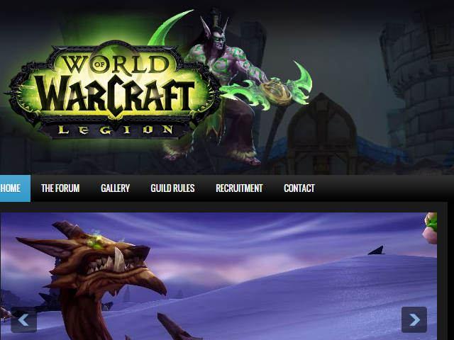 World of Warcraft Alliance Legion Template
