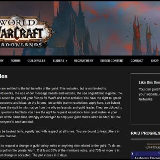 Guild Rules Module for Shadowlands WordPress Theme