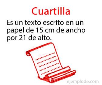 Ejemplo De Una Cuartilla