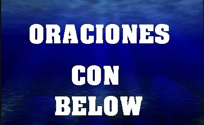 Oraciones Con Below En Inglés