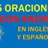 25 Oraciones Con Know En Inglés | Sentences With Know