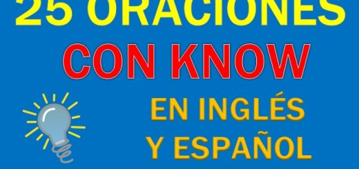 Oraciones Con Know En Inglés