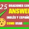 ✅ 30 Oraciones En Inglés Con Answer | Como usar Answer En Inglés