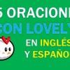 25 Oraciones En Inglés Con Lovely | Sentences With Lovely