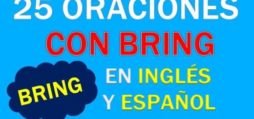 Oraciones Con Bring En Inglés