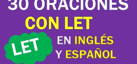 Oraciones Con Let En Inglés
