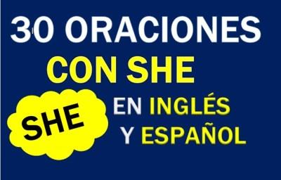 Oraciones Con She En Inglés