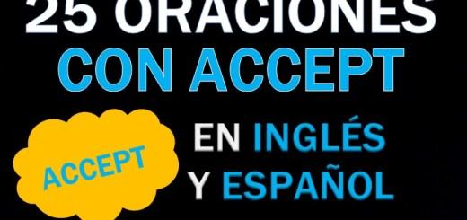 Oraciones En Inglés Con Accept