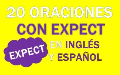 Oraciones Con Expect En Inglés