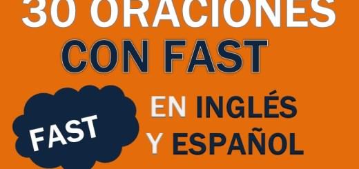 Oraciones Con Fast En Inglés