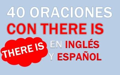 Oraciones En Inglés Con There Is