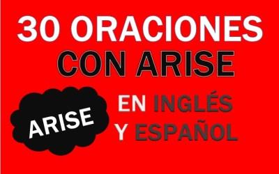 Oraciones Con Arise En Inglés