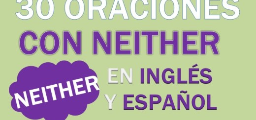 Oraciones Con Neither En Inglés