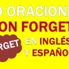 30 Oraciones Con Forget En Inglés | Frases Con Forget
