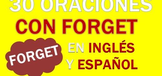 Oraciones Con Forget En Inglés